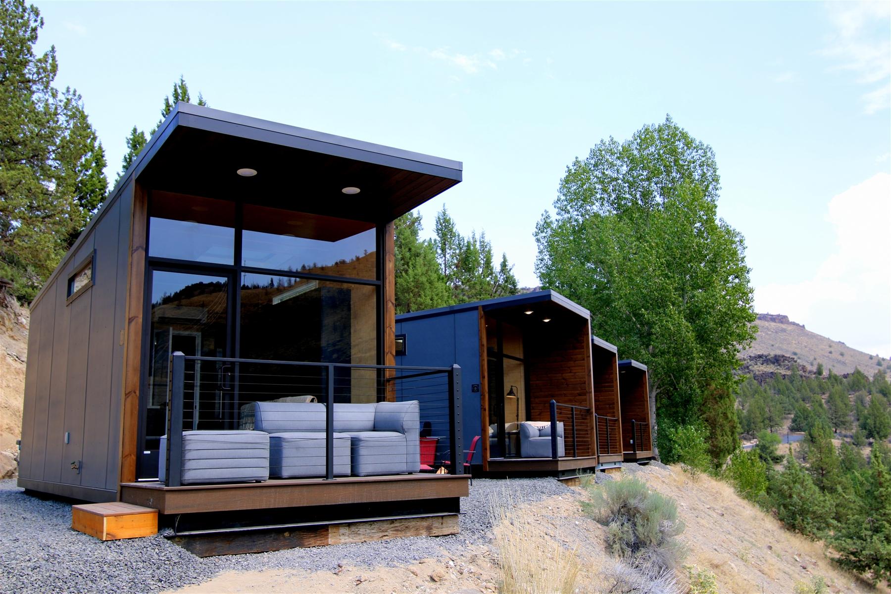 New Crown Point Tiny Homes at Lake Simtustus Resort