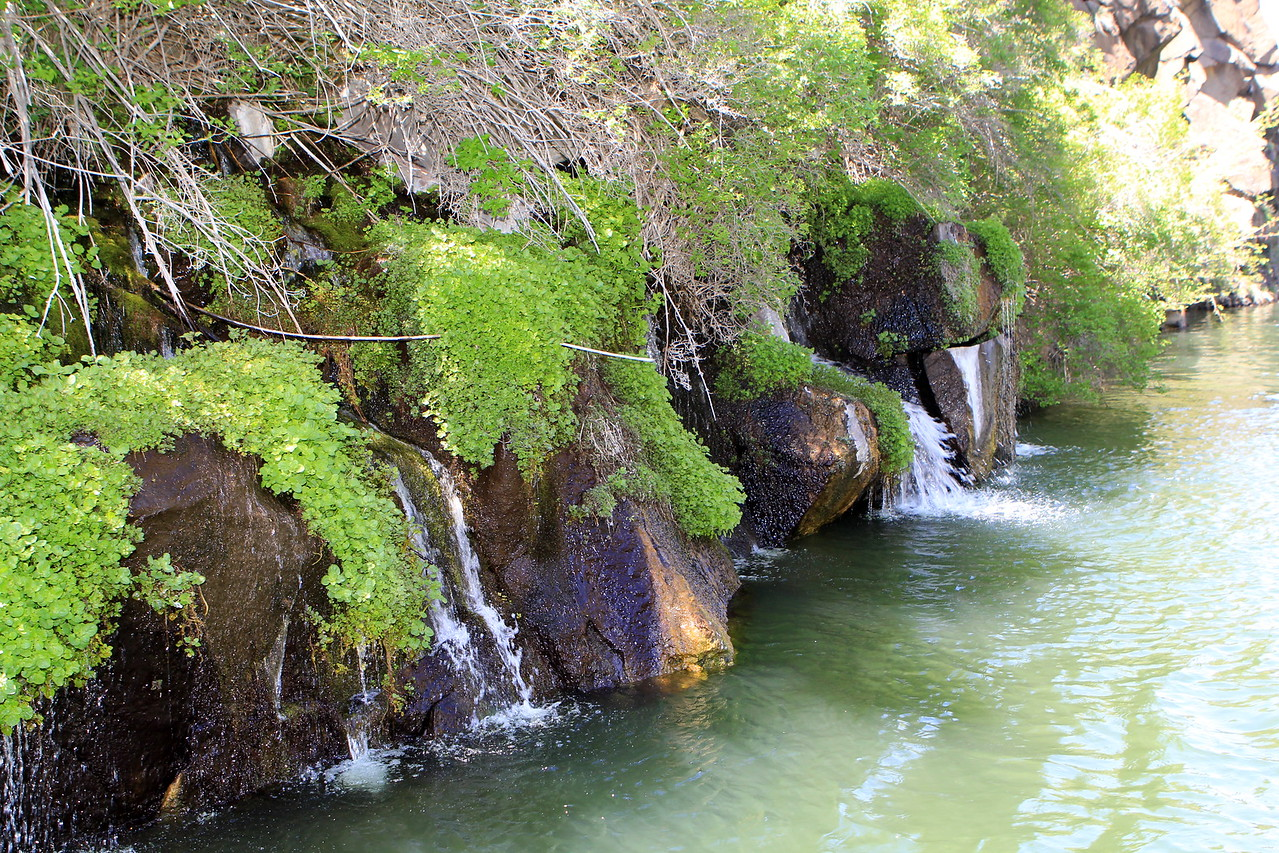 Soothing Waterfalls at Lake Simtustus Resort
